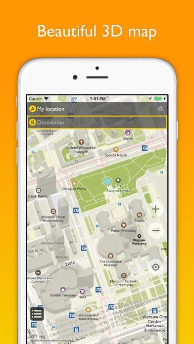 Warsaw offline map & transport Screenshots