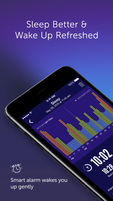 Sleep Time+  Alarm Clock and Sleep Cycle Analysis with Soundscape for Health and Fitness screenshot