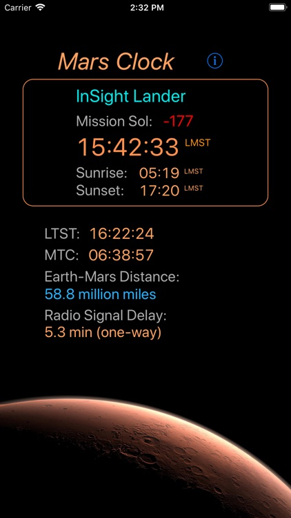 Mars-Clock screenshot-1