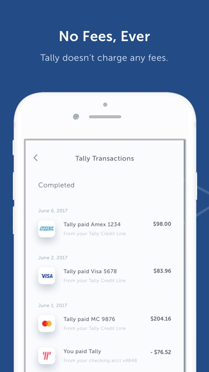 Tally - Credit Card Management