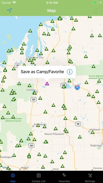 Michigan – Camping & RV spots screenshot-3