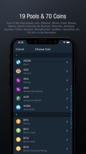 Blockwatch mining monitor on the app store iphone screenshots ccuart Images