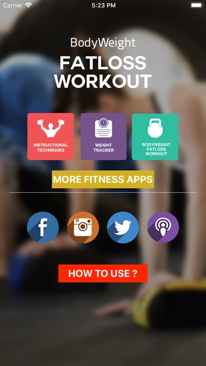 Body Weight Fat loss Workout screenshot-1