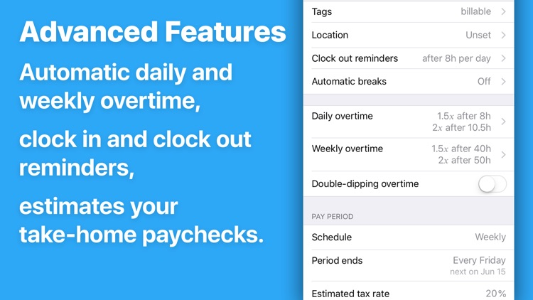 HoursTracker: Hours and Pay screenshot-4