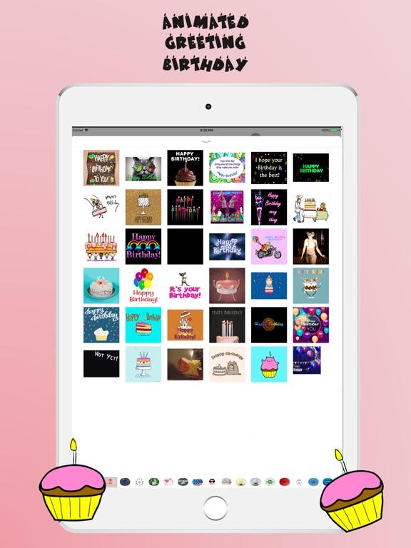 Animated Birthday Stickers screenshot #3