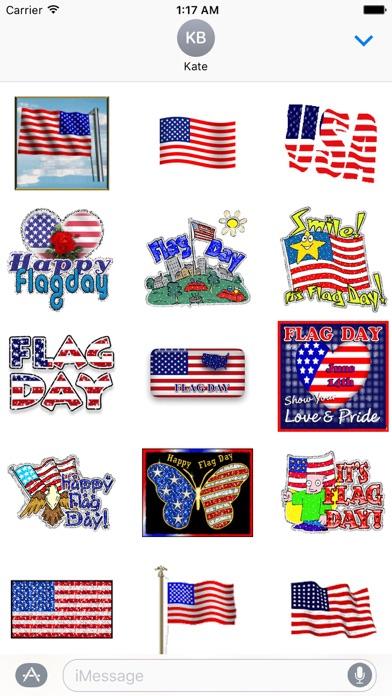 Animated Flag Day Sticker screenshot 1