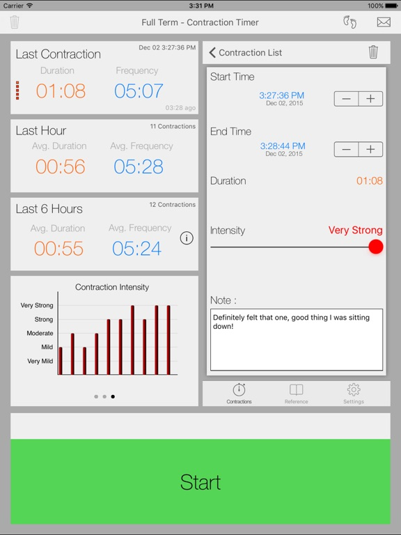 Full Term - Contraction Timer iPad