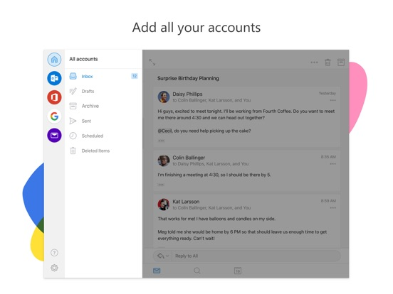 Microsoft Outlook Screenshots