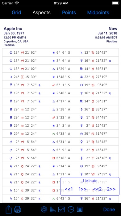 iPhemeris Astrology Charts screenshot four