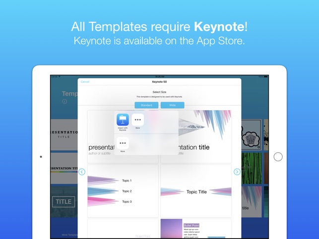 Templates Bundle (for Pages, Keynote and Numbers) on the App Store