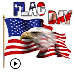 Happy Flag Day Sticker