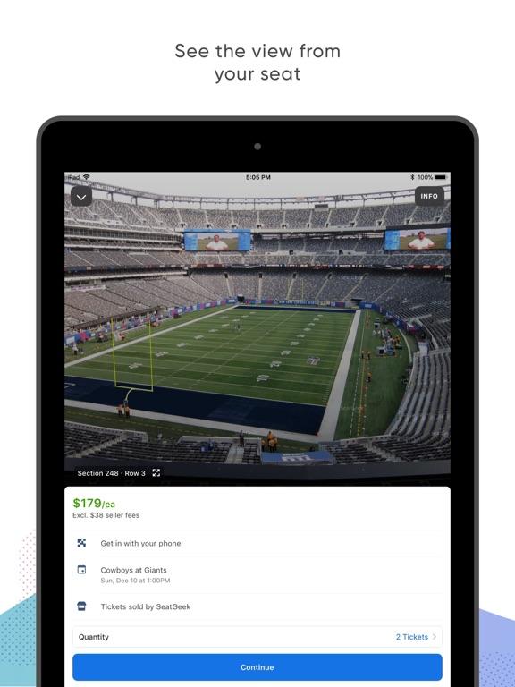 Screenshots for SeatGeek - Buy Event Tickets