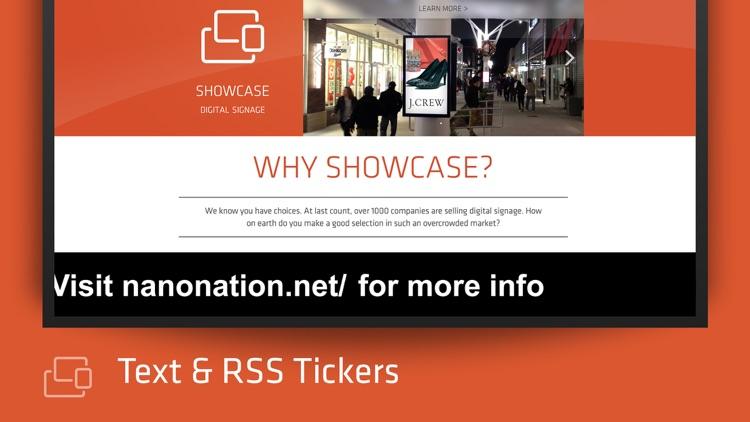Showcase Digital Signage