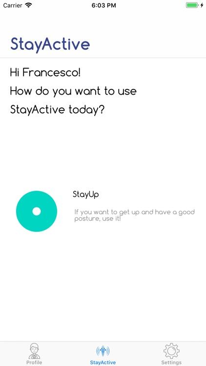 StayUp - StayActive