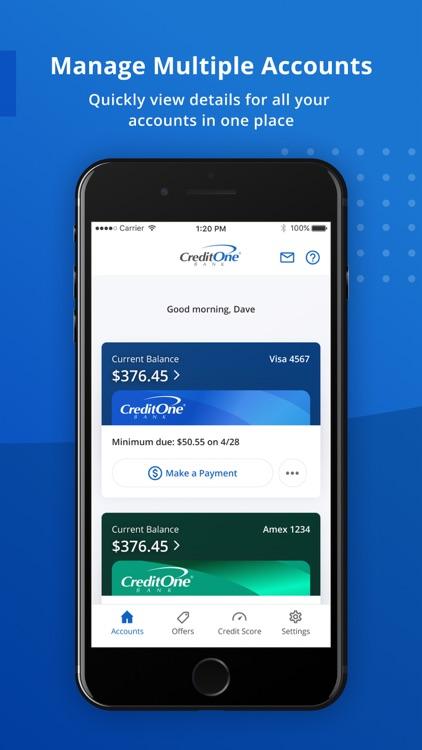 Credit One Bank Mobile screenshot-5