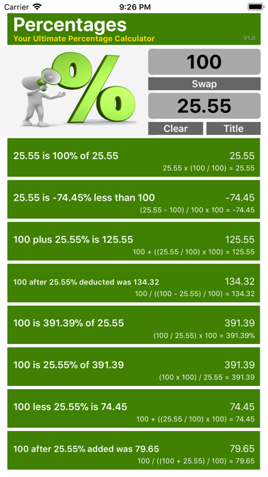 Ultimate Percentage Calculator screenshot two
