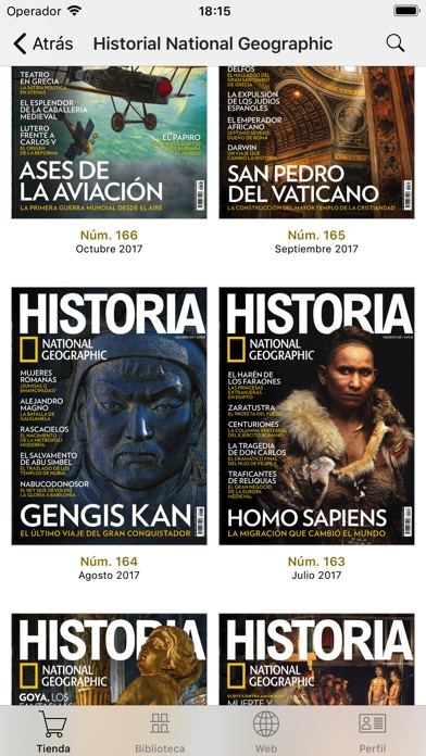 Screenshot for Historia National Geographic in Peru App Store