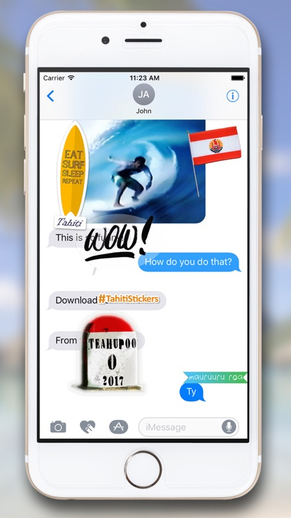 Tahiti Stickers for iMessage screenshot-9