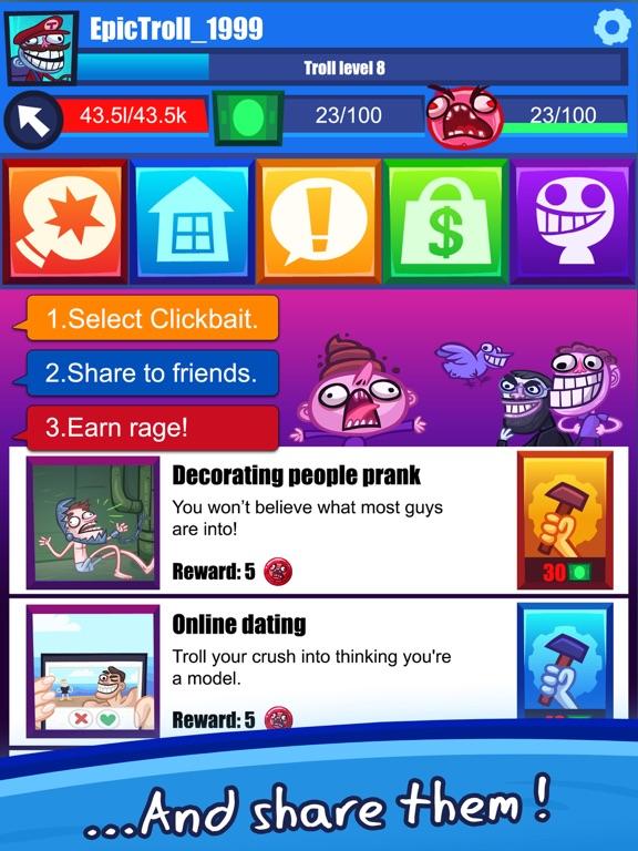 Troll Face Clicker Quest screenshot 9