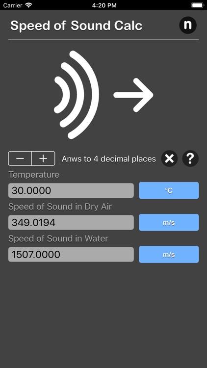 Speed of Sound Calculator by Nitrio