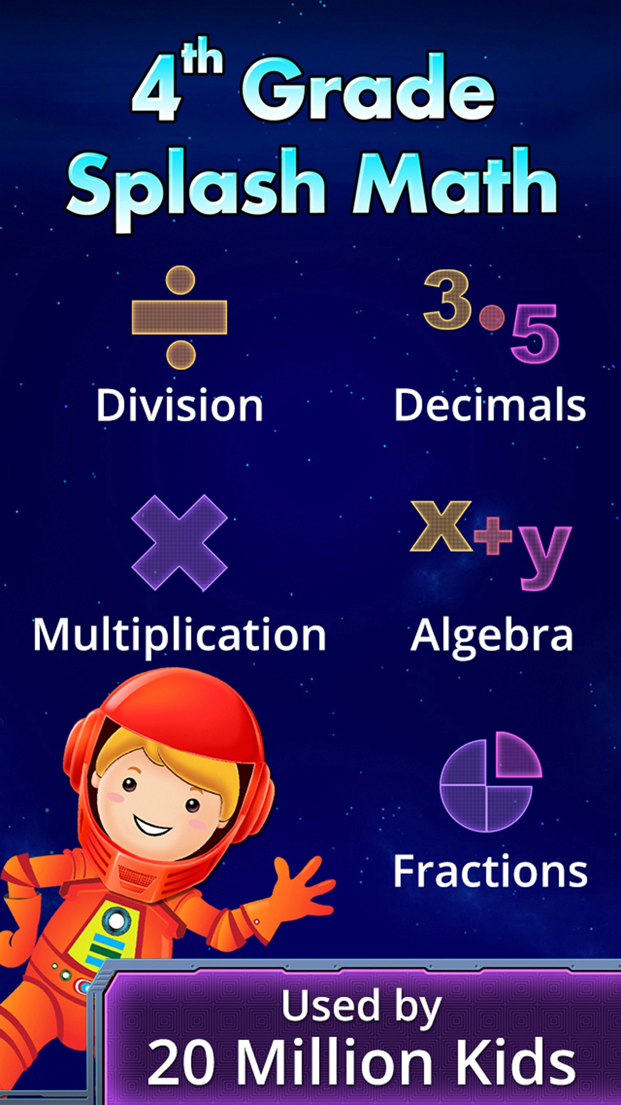 4th Grade Math Games for Kids Screenshot