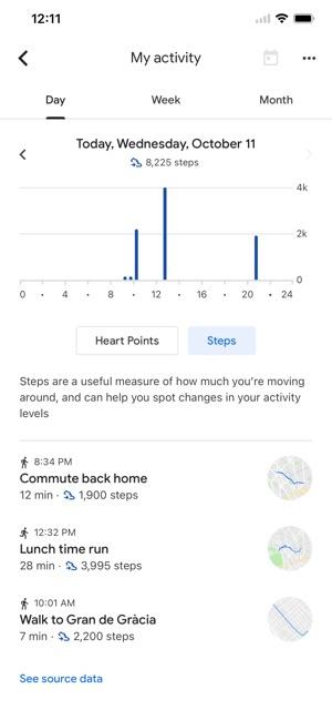 Google Fit: Theo dõi vận động