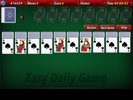 Screenshot 1 For Spider Solitaire 2 Hd