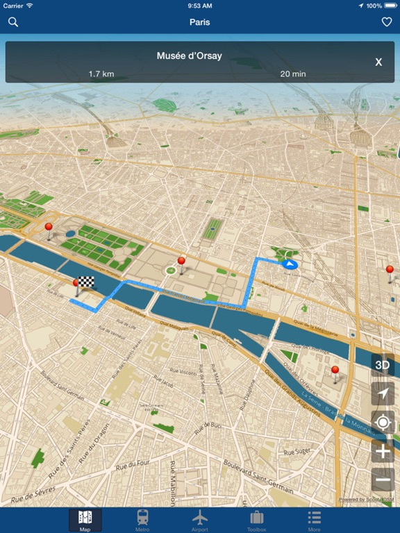 Paris Offline Map Metro Air App Price Drops
