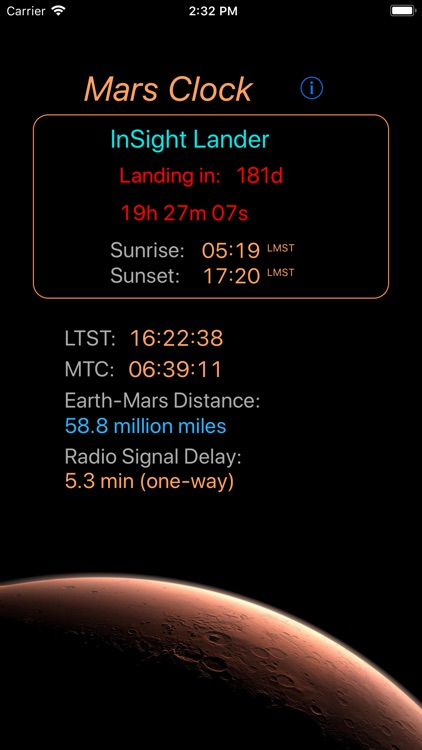 Mars-Clock screenshot-2
