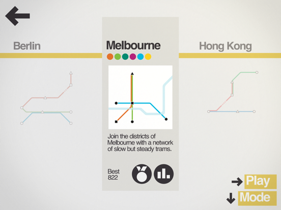 Mini Metro+ Screenshots