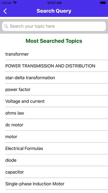 Electrical Engineering App screenshot-6