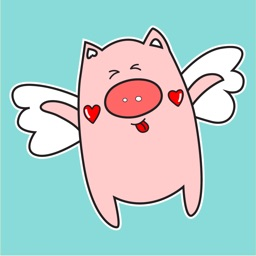 Angel Pig Animated Stickers