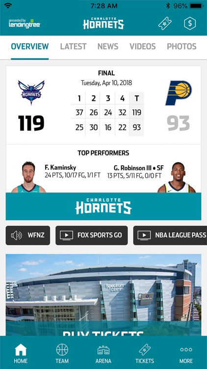 Charlotte Hornets screenshot-0