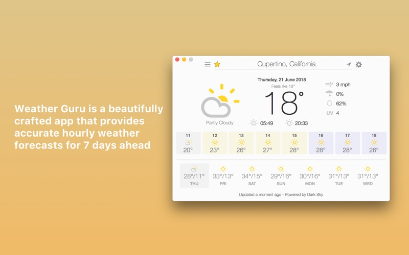 Weather Guru: Hourly Forecasts Screenshot 01 9nlv2mn