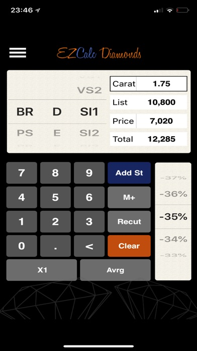 EZcalc Diamonds Screenshot 1