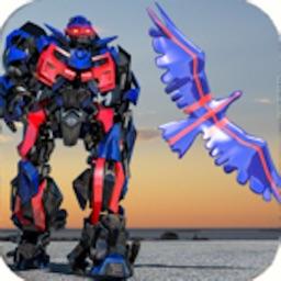Police Eagle robot battle