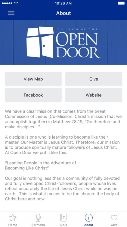 Church of the Open Door App