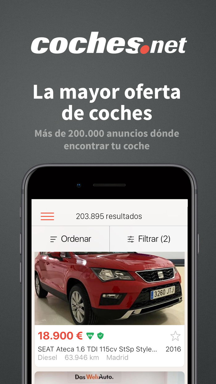 Coches.net - Buy & Sell Cars Screenshot
