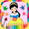 公主畫 - 圖畫書繪製和油漆公主圖片