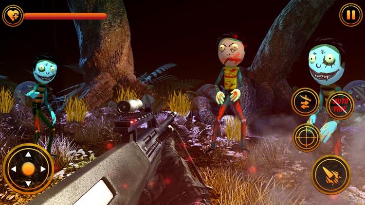 Stickman Zombie Sniper Shooter screenshot-3