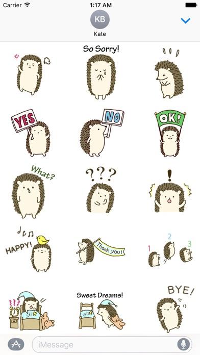 Diary Of Cute Hedgehog Sticker screenshot 2