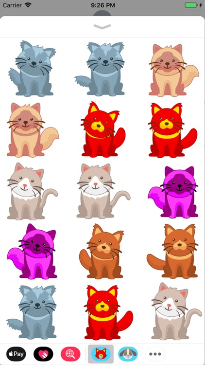 Animated Crazy Cats Stickers