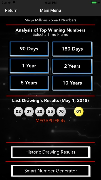 Mega Millions - Smart Numbers screenshot-1