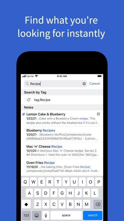 Simplenote – Notes and Todos screenshot-4