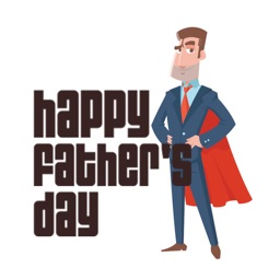 Happy Fathers' Days Stickers