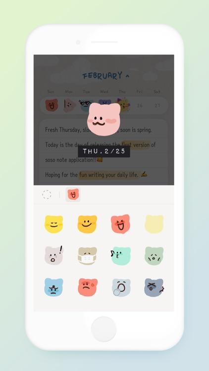 soso note - daily journal screenshot-3