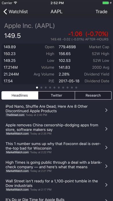 StockBeat Screenshots
