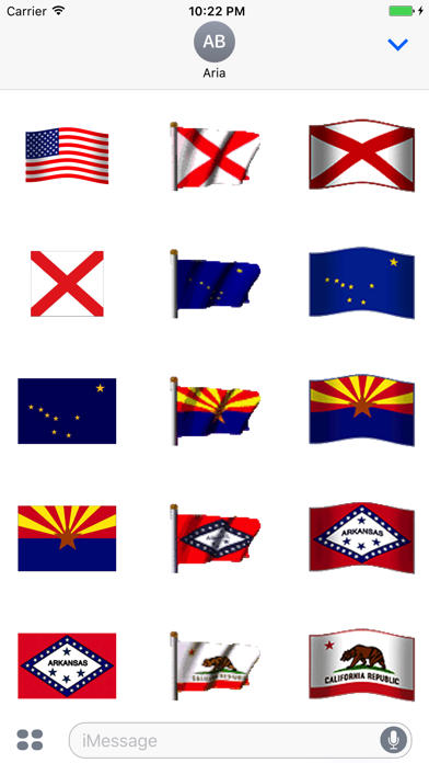 Animated Flags Of 50 US States screenshot one