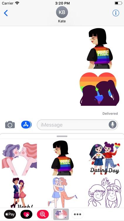 Girl In Pride Love Sticker