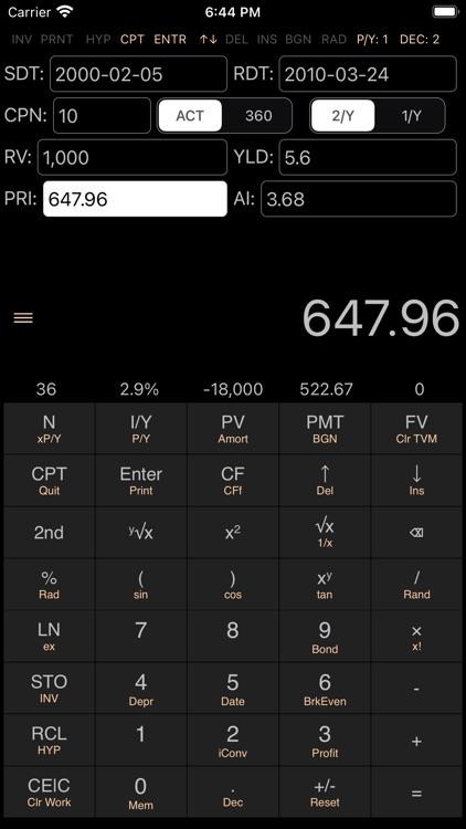 BA II Pro Financial Calculator screenshot-4